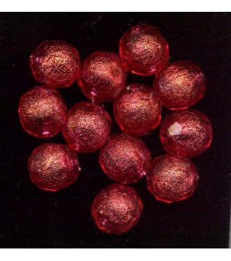 VINTAGE LUCITE FACETED RASPBERRY BALLS