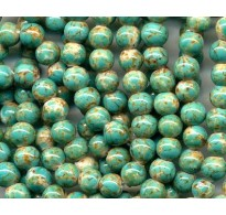 VINTAGE FAUX TURQUOISE GLASS BEADS