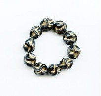 VINTAGE BLACK AND GOLD BEADS