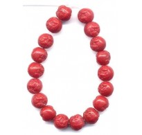 LOVELY VINTAGE MOLDED RED ROSES BEADS