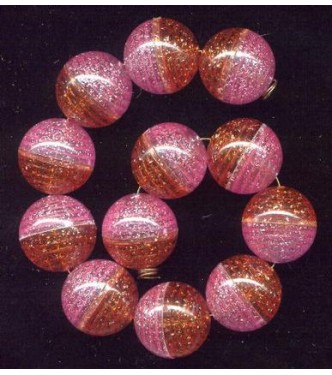 VINTAGE LUCITE BUBBLE BEADS LILAC ORANGE