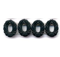 ART NOUVEAU BLACK FLORAL CONNECTORS