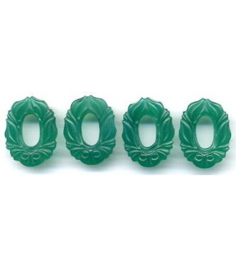ART NOUVEAU GREEN FLORAL CONNECTORS