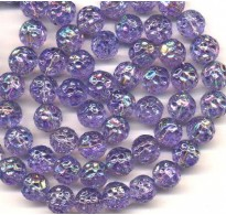 VINTAGE DIMPLED AB LILAC BEADS