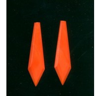 VINTAGE 1920's CORAL GLASS DROPS