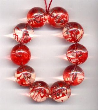 VINTAGE CLEAR & RED LUCITE GLOBES