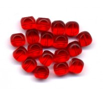 VINTAGE CHERRY RED WINDOW BEADS