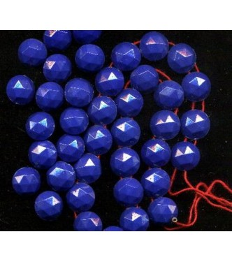 VINTAGE 1920's TWO HOLE COBALT BEADS