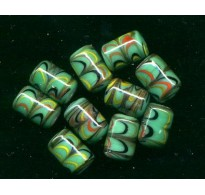 VINTAGE JAPAN COLORFUL SEAGREEN BEADS