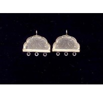 VINTAGE DECO STONE FROSTED S.S. EARRINGS