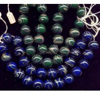 VINTAGE JAPAN COBALT PLANET EARTH BEADS (SMALL)