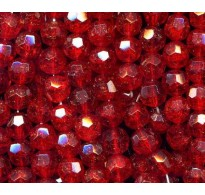 VINTAGE CHERRY RED FACETED CRACKLES