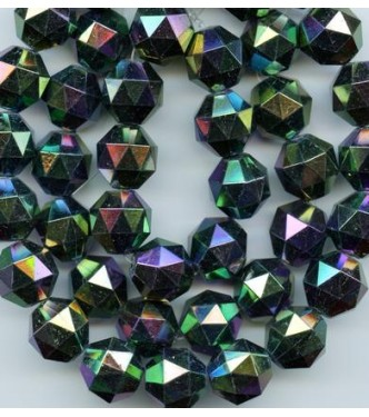 VINTAGE LUCITE FACETED IRIS BEADS