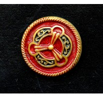 1930'S RED CZECH MEDALLION