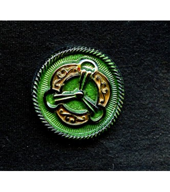 1930'S GREEN AND BLACK CZECH MEDALLION