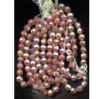 VINTAGE WEST GERMAN  DUSTY ROSE FACETED BEAUTIES