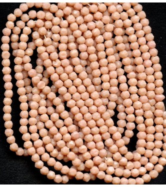VINTAGE FACETED BLUSH BEADS