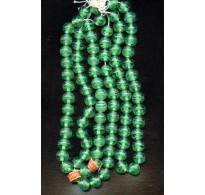 VINTAGE JAPANESE CHERRY BRAND EMERALD GREEN BEADS