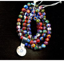 STRIKINGLY COLORFUL VINTAGE MILLEFIORI BEADS