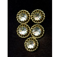 VINTAGE SWAROVSKI STONES SET IN BRASS