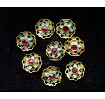 STRIKING BRASS, ENAMEL, AND STONE CONNECTORS