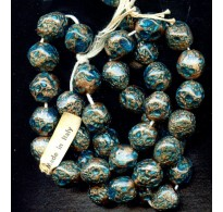 VINTAGE VENETIAN AQUA AND AVENTURINE NUGGETS