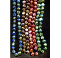 VINTAGE MARBLE BEADS WITH THREADS OF AVENTURINE (LG)