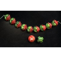 WONDERFUL TWO PIECE RED FLOWER BEADS