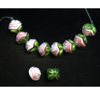 WONDERFUL TWO PIECE  PINK FLOWER BEADS