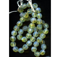 VINTAGE OPALESCENT FACETED BEADS