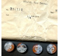 VINTAGE 1965 WORLDS FAIR CABOCHONS