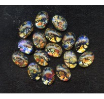 VINTAGE MEXICAN GLASS CABOCHON OPALS
