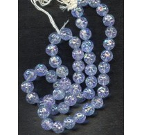 BEAUTIFUL VINTAGE IRIDESCENT LILAC BEADS