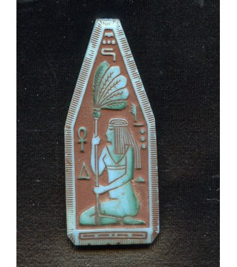 EGYPTIAN REVIVAL TURQUOISE FOCAL PENDANT