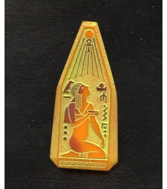 EGYPTIAN REVIVAL GOLDENROD FOCAL PENDANT