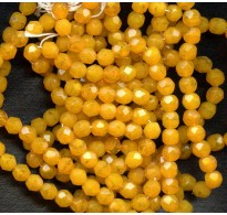 VINTAGE BOLD GOLDENROD FACETED BEADS