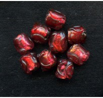 VINTAGE JAPAN LAMPWORK RUBY RED FOILS (Small)