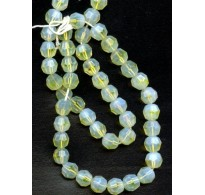 BEAUTIFUL VINTAGE OPALESCENT PALE YELLOW BEADS