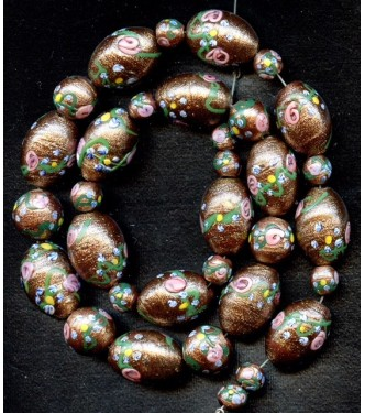 DECO AVENTURINE FLORAL BEADS (WEDDING CAKE)