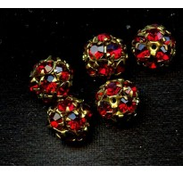 RUBY RED SWAROVSKI BEADS