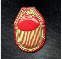 VINTAGE EGYPTIAN REVIVAL RED SCARAB
