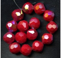 VINTAGE AB FACETED CHERRY RED SPARKLERS