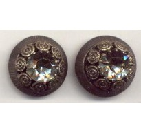 VINTAGE BLACK DIAMOND BUTTONS