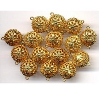 VINTAGE BRASS FILIGREE CONNECTOR BEADS