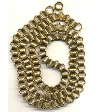VINTAGE BRASS BOOK CHAIN NECKLACE