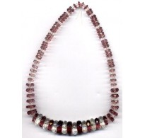 VINTAGE AMETHYST & CLEAR RONDELL NECKLACE